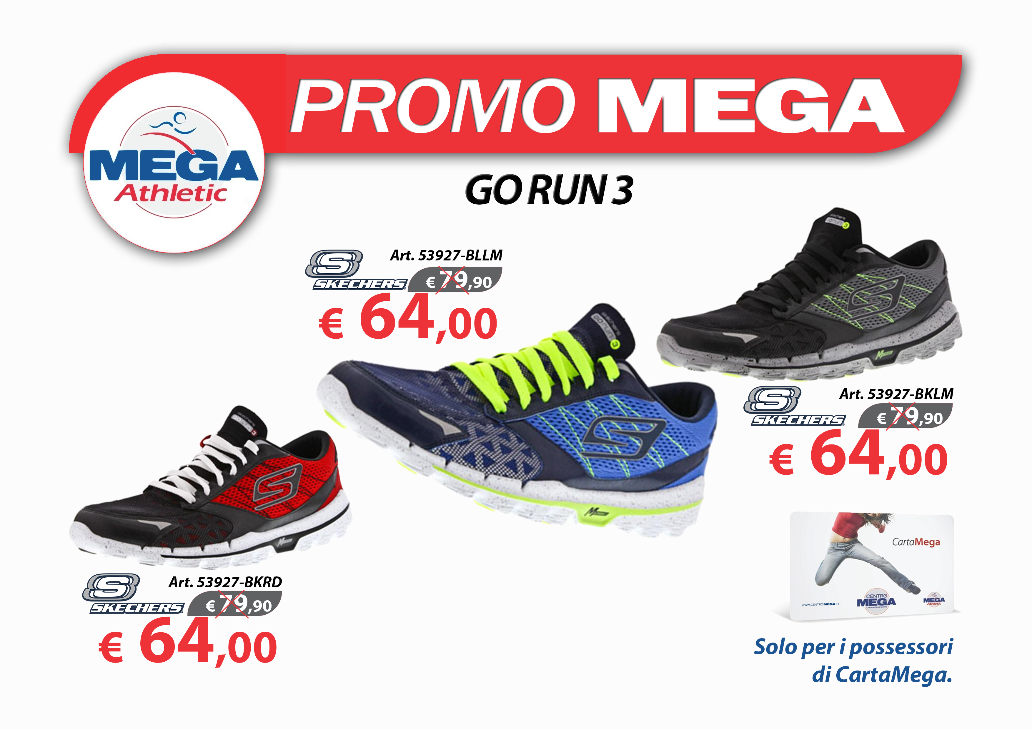 Offerte Carta Mega GO RUN 3 MAN